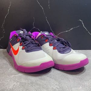 Nike Metcon 2 Purple/Grey/Orange Size 9.5m
